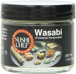 Sushi Chef Wasabi (Powdered Green Horseradish), 1-Ounce Glass Jars (Pack of 6)