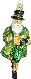 Old World Christmas Ornaments: Irish Santa Glass Blown Ornaments for Christmas Tree