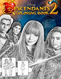 Descendants 2 Coloring Book: Great 18 Illustrations for Kids