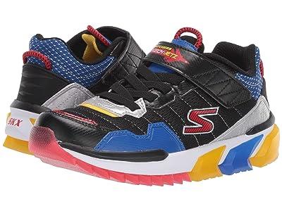 SKECHERS KIDS Sport Lighted Gore Strap Sneaker 400036L (Little Kid/Big Kid) (Black/Multi) Boy