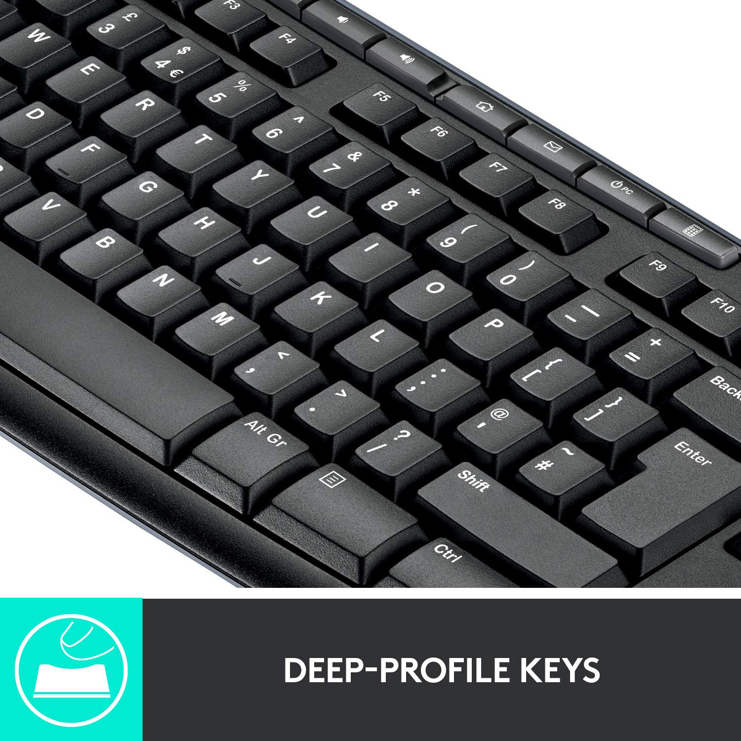 Logitech MK270 Wireless Keyboard and Mouse Combo — Keyboard and Mouse Included, Long Battery life