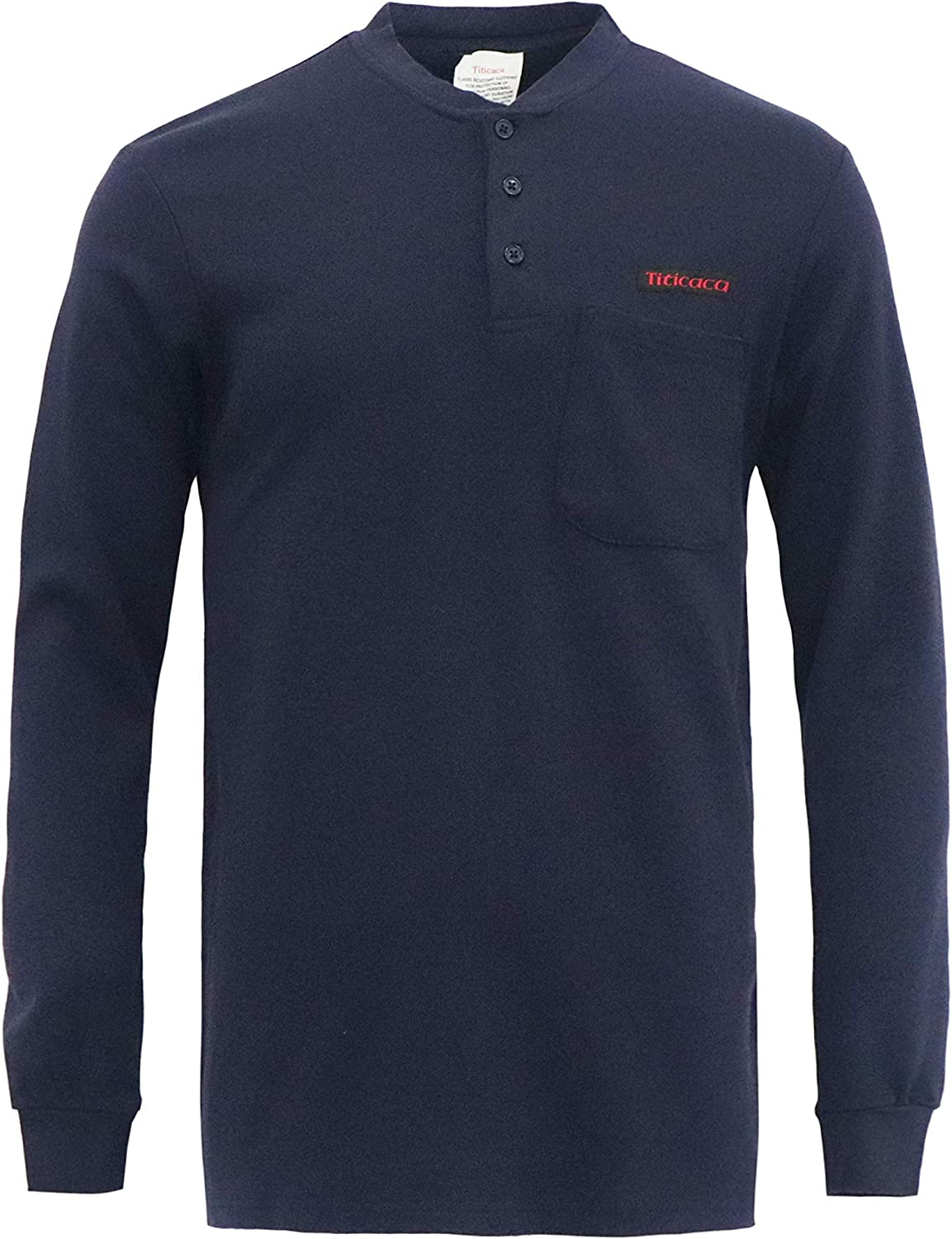Titicaca Flame Resistant FR 7OZ 100% Sl Long Style Direct stock discount Henley Cotton Max 74% OFF