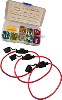 KOLACEN Bilbil lastbil mini bladtyp säkring diverse kit 5 10 15 20 25 30 Amp 1 Box-14 awg