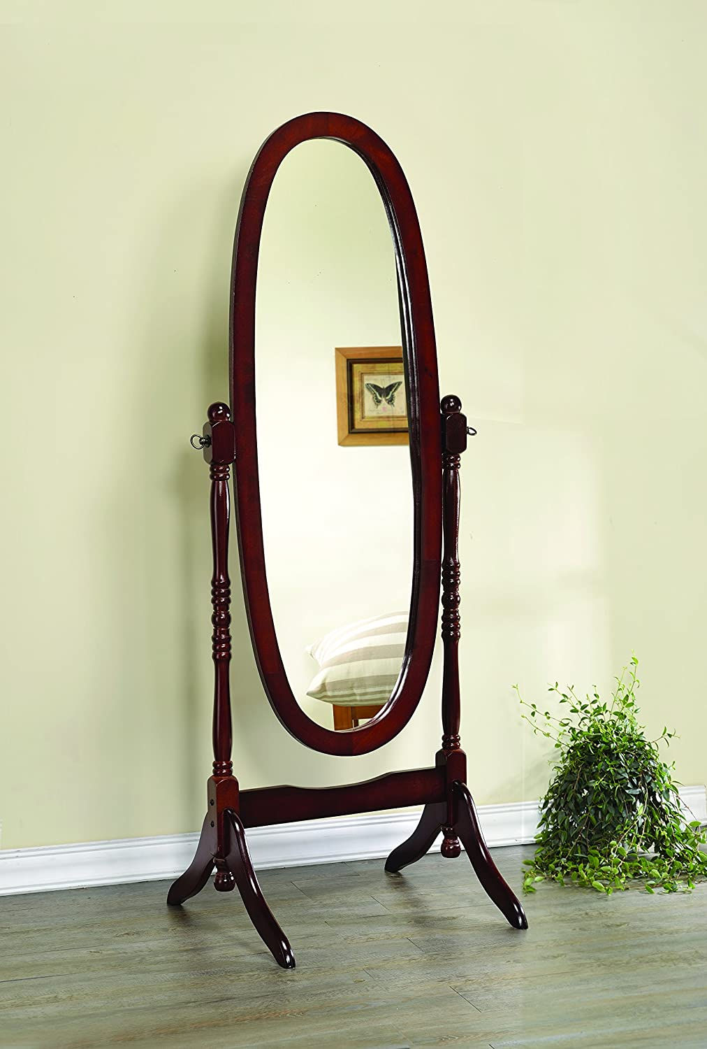 Coaster Home Furnishings 3101 Traditional Mirror, Cherry