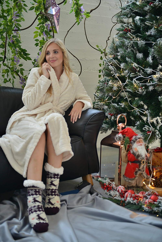 RAIKOU Donna Accappatoio Morbida e Super Morbido Coral Fleece Abbigliamento da Casa Largo e Rilassante