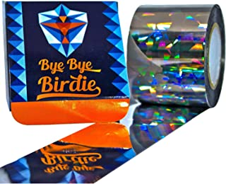 Bird Scare Tape - Extra Large 200 feet - Bird Repellent and Deterrent - Double Sided Holographic Flash Deterrent and Reflector - Best for Gardens, Docks and Boats - Keep Birds Away