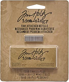 Metal Tiny Attacher Refills by Tim Holtz Idea-ology, Box of 1550 Staples,