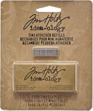 Metal Tiny Attacher Refills by Tim Holtz Idea-ology, Box of 1550 Staples, .25 Inches, TH92801