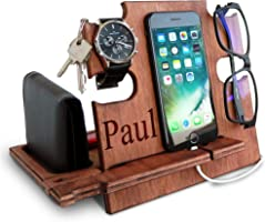 Gift for Him, Personalized Gift, Docking Station, Charging Station, Phone Dock, Cell Phone Stand, Desk Organizer,...
