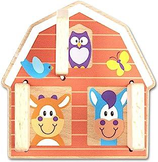 Melissa & Doug First Play Peek-a-Boo Farm Wooden Grasping Toy