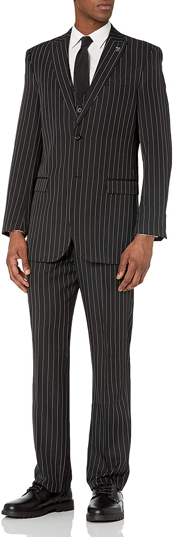 STACY ADAMS Men's Mars Vested 3 Piece Suit
