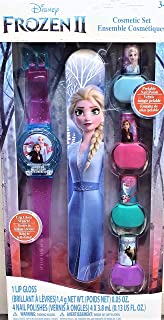 Disney Cosmetic Set for Kids ( Frozen 2 Watch Lip Gloss 4 Frozen 2 Nail Polish 1 Frozen ELsa 2 Nail Filer )