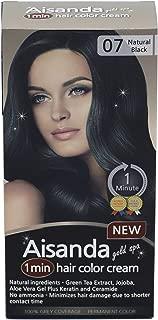 Aisanda & Assanta 1 Minute Hair Color Cream, Fast Natural Hair Dye For Women & Men With Herbal Ingredients, Ammonia Free (1Pack60g, Natural Black)