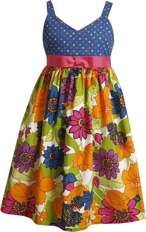 Bonnie Jean Big Girls' Mixed Print Sundress
