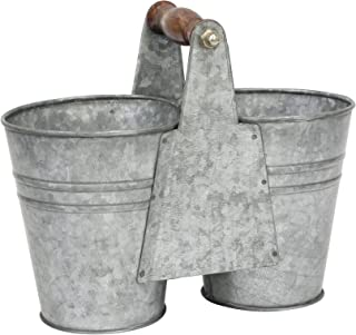 antique galvanized buckets