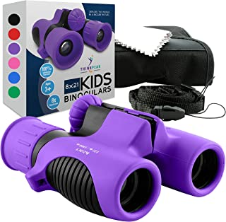 Think Peak Toys Binoculars for Kids, Toy for Sports and Outdoor Play, Spy Gear and Learning Gifts for Boys & Girls, Purple