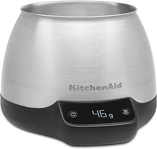KitchenAid KCG0799SX Digital Scale Jar Burr Grinder Accessory, Brushed Stainless Steel