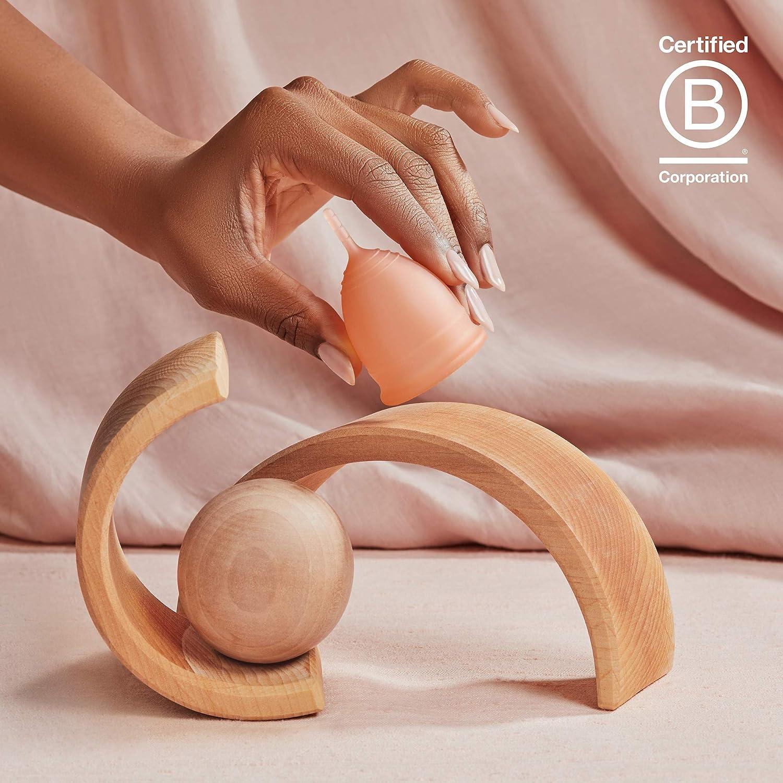Saalt Taza menstrual suave, súper suave y flexible, la mejor copa sensible, uso durante 12 horas, fabricado en Estados Unidos (rubor del desierto, ...