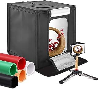 撮影ボックス 50*50*50cm 照明キット プロ 簡易 スタジオ 折り畳み 携帯 三脚 スタンド 背景布 五色 収納便利 ライトキット 多角度対応 撮影スタジオ 物撮り 小物撮影用