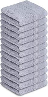 SOFTILE COLLECTION Washcloths 12 Pack 12 x 12 inches 100% Cotton Face Towels Highly Absorbent Soft Cotton Washcloths for F...