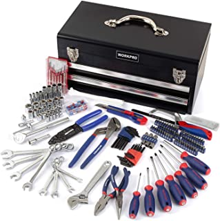 WORKPRO 239-Piece Household Tool Set - 2-Drawers Heavy Duty Metal Box - Perfect for DIY, Auto, Household - W009028A