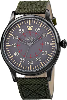 August Steiner Men's Urbane Analogue Display Quartz Watch with Textile Strap