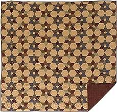 VHC Brands Rustic & Lodge Primitive Bedding - Tea Star Tan Quilt, Queen, Dark