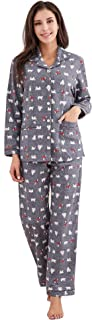 Women's Printed Flannel Two-Piece Set Pajama Size S-XL RHW2774