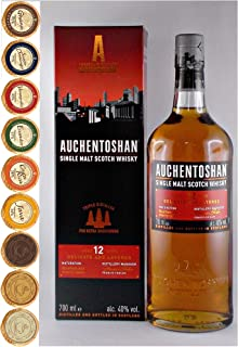 Auchentoshan 12 Jahre Single Malt Whisky  9 Edel Schokoladen in 9 Sorten