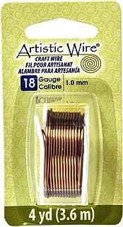 Artistic Wire Beadalon, 18 Gauge, Antique Brass, 4 yd (3.7 m) Craft Wire