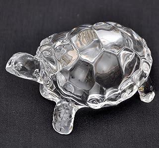 Petrichor Fengshui Vastu Original Clear Crystal Turtle for Peace & Prosperity ((xtraLarge))