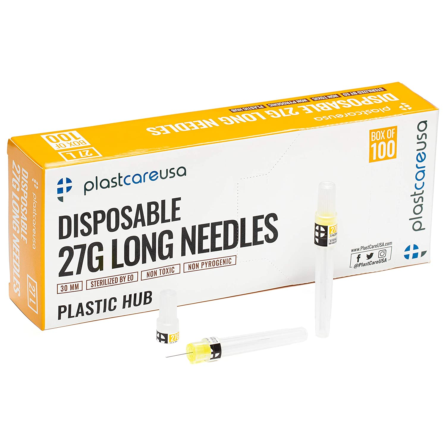 100 Disposable Dental 1 year warranty Needles in Long Super-cheap Box 27G Perforated