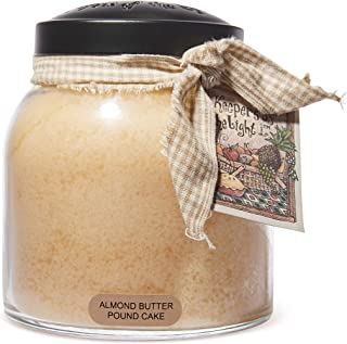 A Cheerful Giver Almond Butter Pound Cake Papa Jar Candle, 34-Ounce, Cream