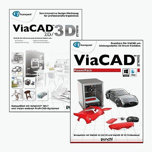 ViaCAD 2D/3D 10 inkl. PowerPack 10 3D - CAD-Design inkl. leistungsstarker Werkzeuge für 3D Druck! Auch für Mac OS High Sierra 10.13 (64-bit) [Download]