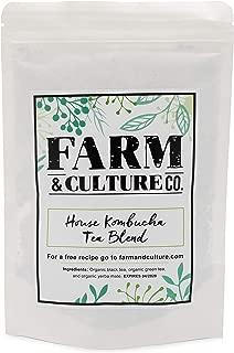 Organic Loose Leaf Kombucha Tea Blend With Black, Green & Yerba Mate Tea | Perfect Probiotic Tea For Digestion/Bloating Relief & Detox Cleanse | Full of Antioxidants/Minerals - 4 Oz - 66 Servings
