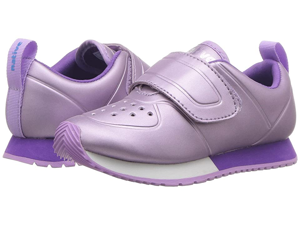 Native Kids Shoes Cornell HL Metallic (Toddler/Little Kid) (Lavender Metallic/Shell White/Starfish Purple/Lavender Rubber) Girls Shoes