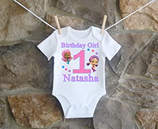 Bubble Guppies Oona and Molly Birthday Shirt Girls