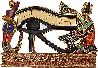 Dеsign Tоscаnо ホームデコ エジプト風装飾 ホルスの目 ウォール彫刻 飾り板 12インチ フルカラー