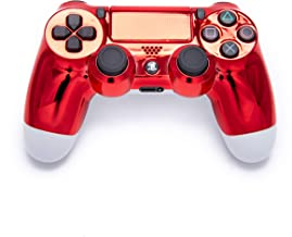 Chrome Red Playstation 4 PS4 Dual Shock 4 Wireless Custom Controller with Chrome Red Touchpad