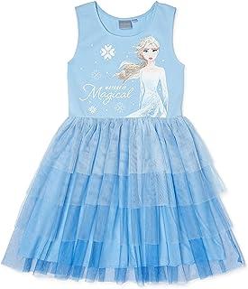 Disney Girl's Elsa and Anna Frozen Ballerina Tutu Ruffle Skirt Dress