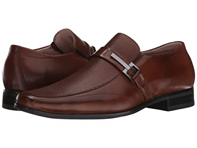 Stacy Adams Beau Moc Toe Slip On Loafer (Cognac) Men