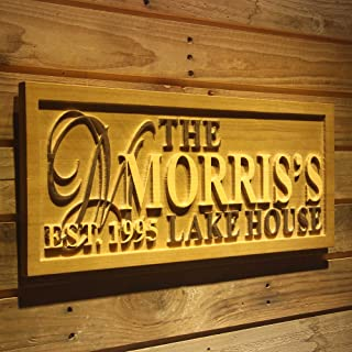 personalized wooden lake house signs