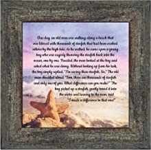 Crossroads Home Décor The Starfish Story, Legend of The Starfish, Thank You or Appreciation Gift for Your Pastor or Teacher, You Can Make a Difference Poem, 10x108688BW