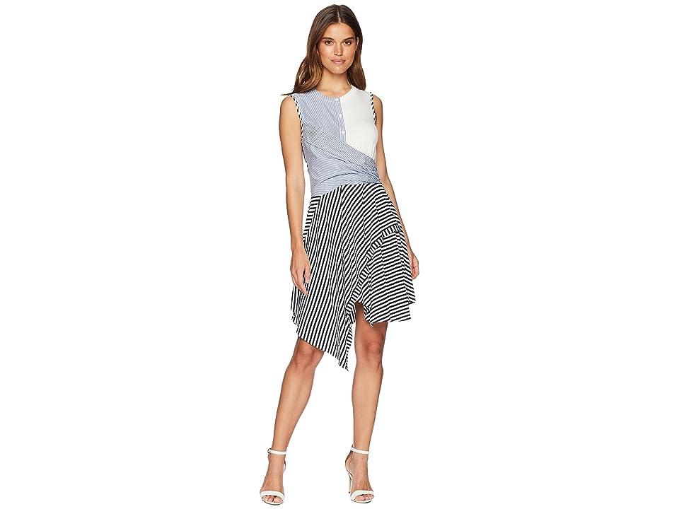 CATHERINE Catherine Malandrino Franka Sleeveless Multi Stripe Twist Front Dress (Mixed Stripe) Women