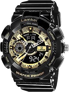 Lamkei Analogue - Digital Black Dial Men's Watch