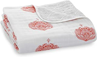 aden + anais Blanket, Paisley Multi, 0 To 36 Months, White/Pink, Piece of 1