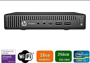 Newest HP 600 G2 Micro Computer Mini Tower PC (Intel Quad Core i3-6100T, 16GB DDR4 Ram, 256GB Solid State SSD, WIFI, VGA, ...
