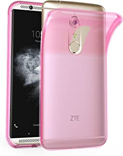 Cadorabo Case Works with ZTE Axon 7 in Transparent Pink – Shockproof and Scratch Resistant TPU Silicone Cover – Ultra Slim Protective Gel Shell Bumper Back Skin