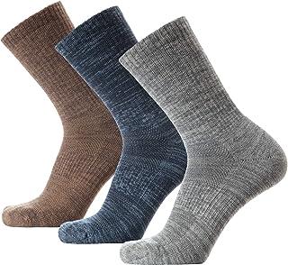 KOLD FEET Mens Merino Wool Hiking socks Crew Quarter Low Cut for Spring Summer Winter Trekking Performance Outdoor 3 Pairs