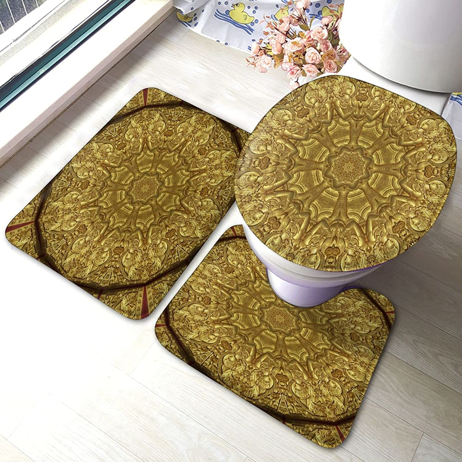 Shipping included Max 46% OFF Bathroom Mat Sets 3 Piece Set Rugs A Foam Memory Matches